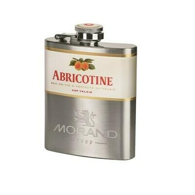 Flasque en métal Abricotine AOP Morand 43% 10cl