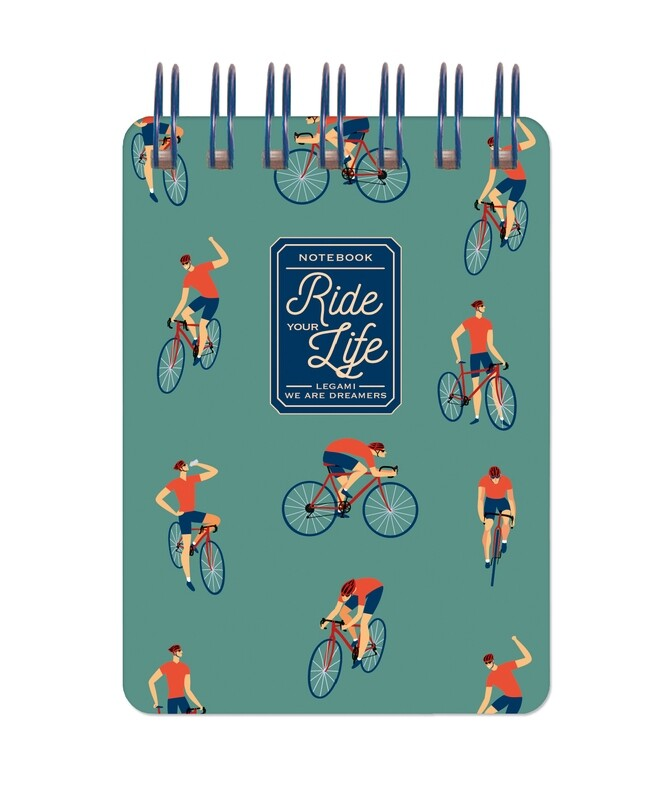 Bloc-note à spirales Ride your life - cycliste