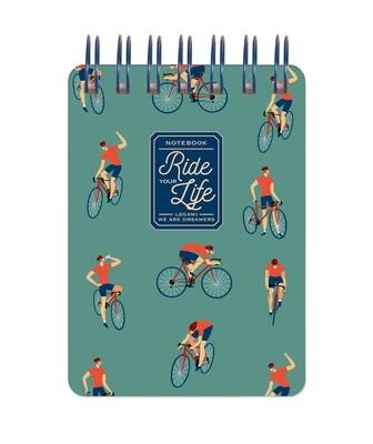 Bloc-note à spirales Ride your life - cycliste