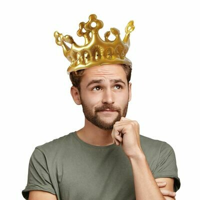 Couronne gonflable pour le roi
