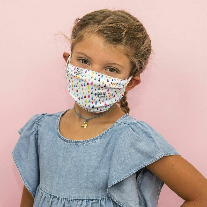 Masque pour enfants - Pluie