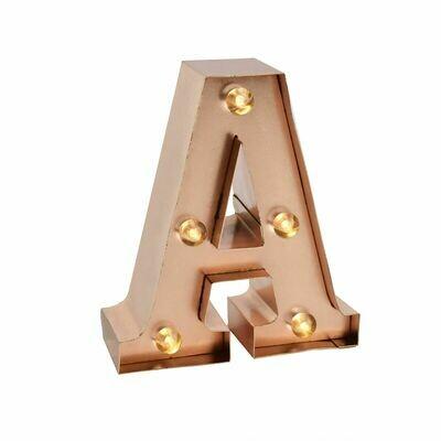 Lumière décorative en forme de lettre A-Z