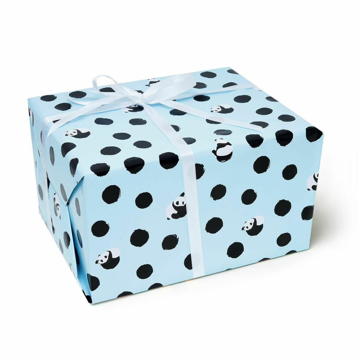 Rouleau de papier cadeau panda