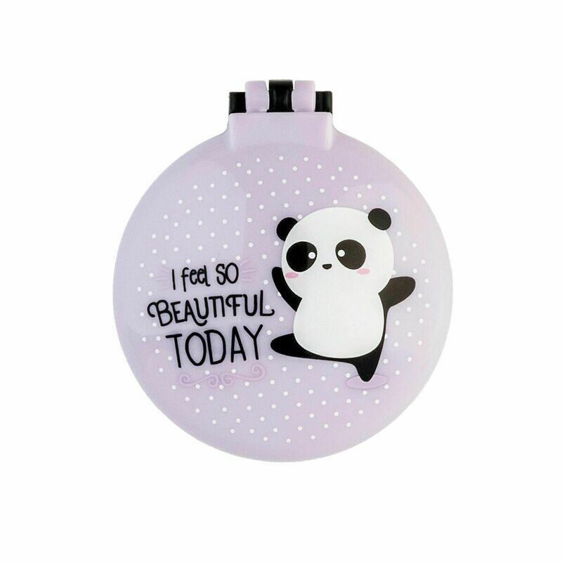 Brosse à cheveux avec miroir Panda