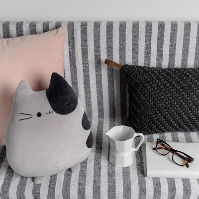Coussin chat gris