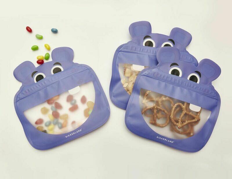 3 sachets à zip réutilisables Hippo