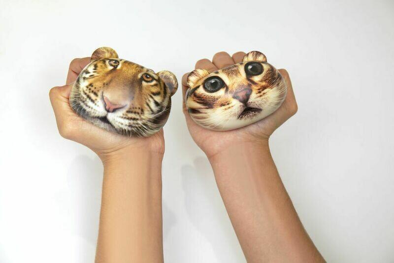 La petit balle anti-stress chat ou tigre ♥️