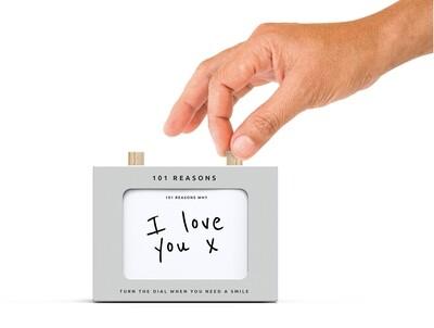 Box à personnaliser vos 101 raisons très personnelles