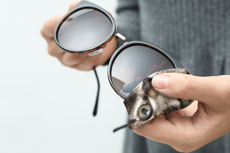 Lingette lunettes et écran microfibre chat