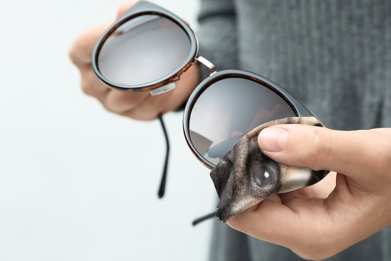 Lingette lunettes et écran microfibre chien