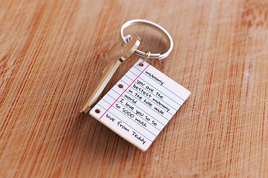 Set pour fabriquer un porte-clé avec une lettre manuscrite ♥️
