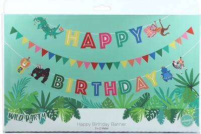 Guirlande anniversaire - Happy Birthday jungle