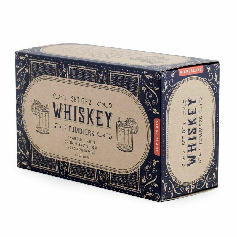 Coffret 2 verres à whisky & pic