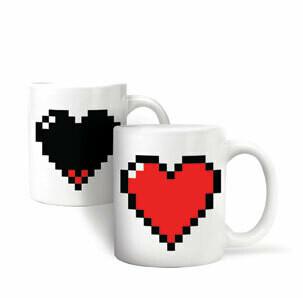 Mug cœur pixel qui change de couleur