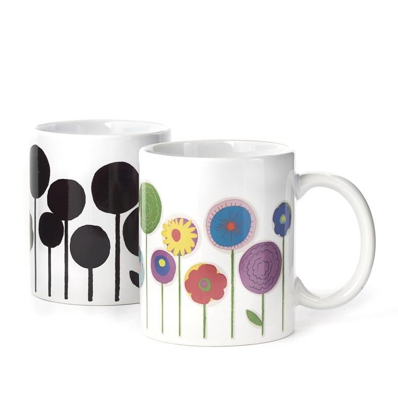Mug fleur qui change de couleur