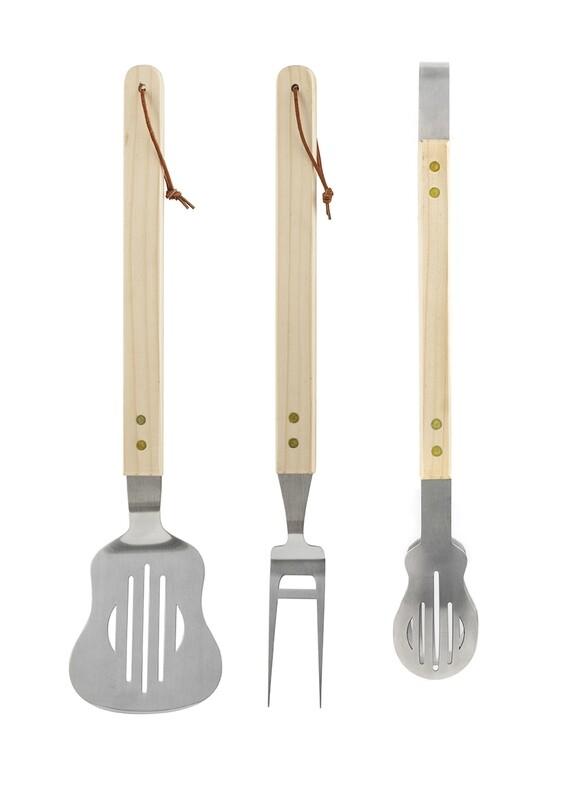 Set de trois ustensiles pour Barbecue en forme de guitare 