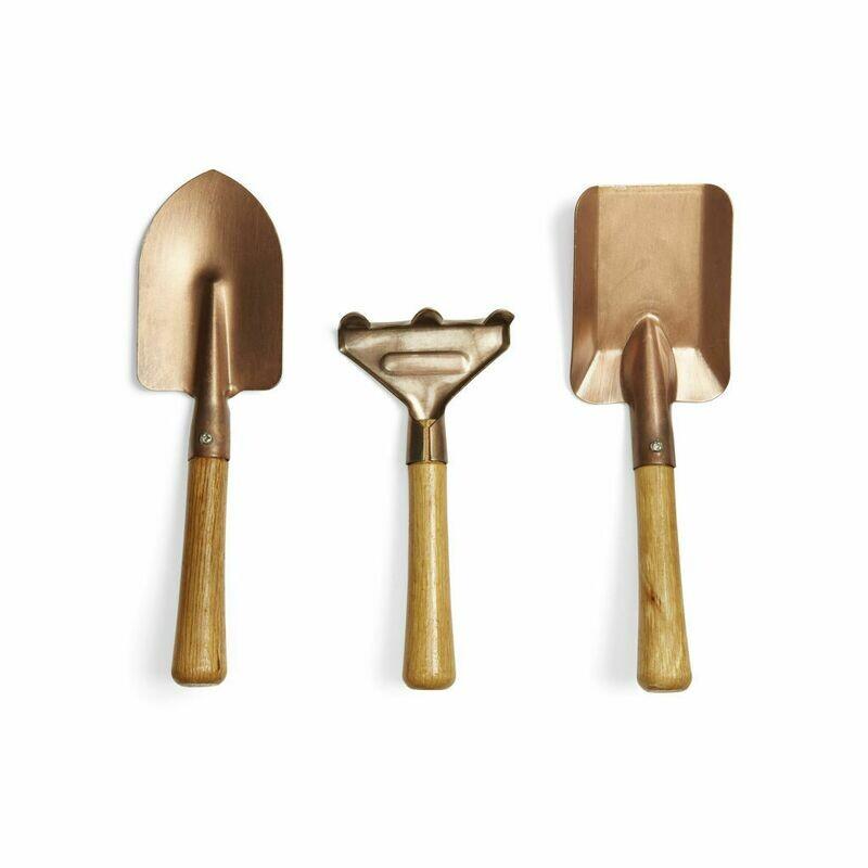 Set de 3 petits outils de jardinage bronze