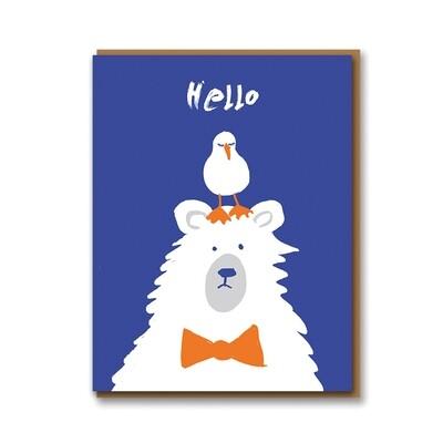 Carte double avec enveloppe - Hello