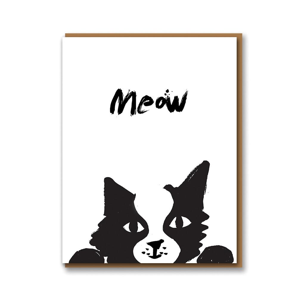 Carte double avec enveloppe - Meow