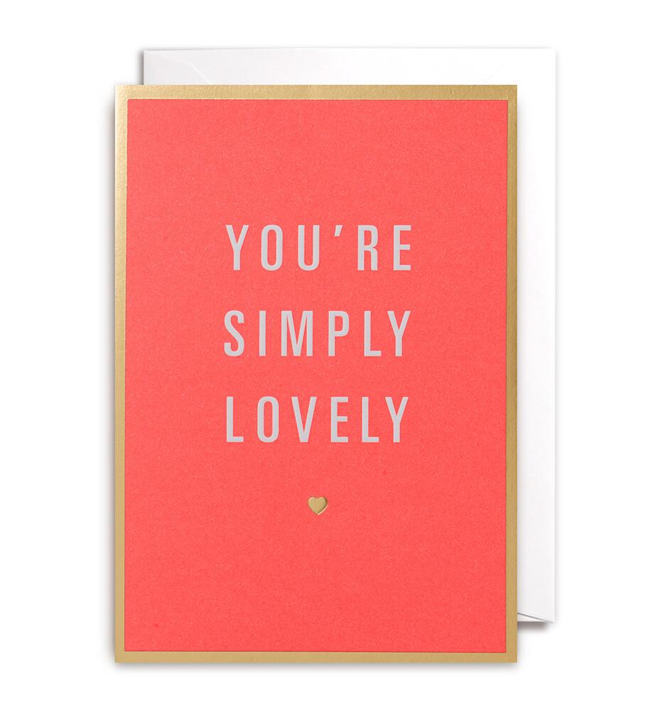 Carte double avec enveloppe - You're symply lovely