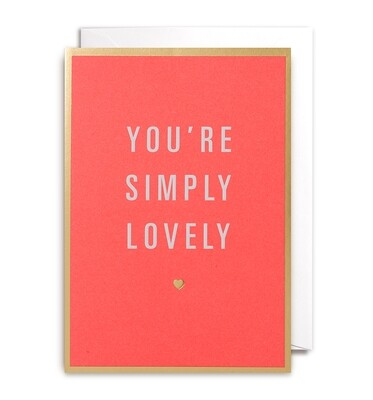Carte double avec enveloppe - You're simply lovely