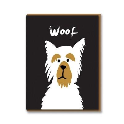 Carte double avec enveloppe - Woof