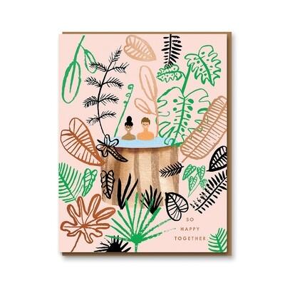 Carte double avec enveloppe - So happy togheter