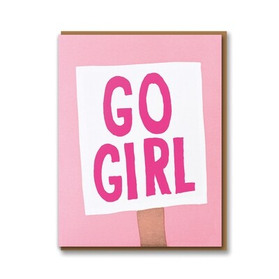 Carte double avec enveloppe - Go Girl !