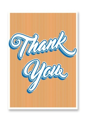 Carte postale - Thank you