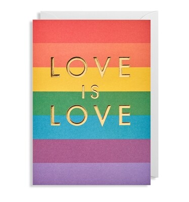 Carte double avec enveloppe - love is love 🌈