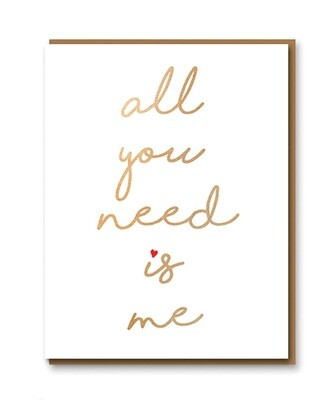 Carte double avec enveloppe - All You Need Is Me
