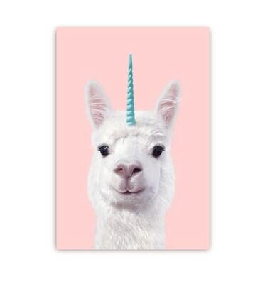Carte postale - Lama licorne