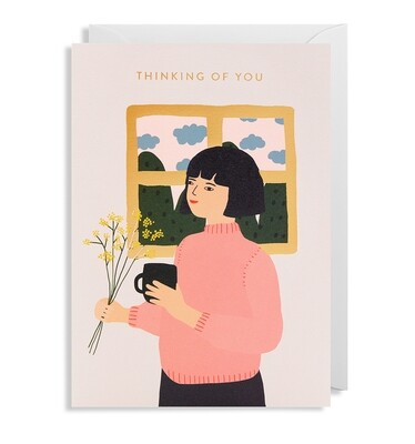 Carte double avec enveloppe - Thinking of you