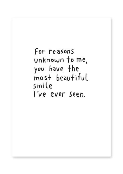 Carte postale - The most beautiful smile