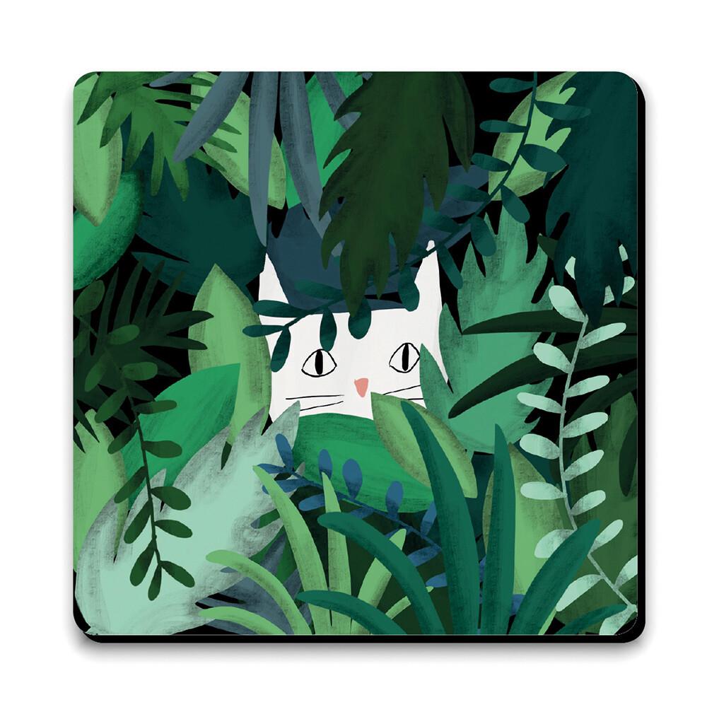 Sous-verre - Chat jungle