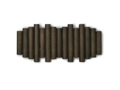 Multi-patères en bois brun foncé