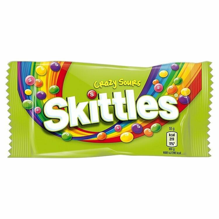 Bonbon - Skittles Crazy Sour 55g