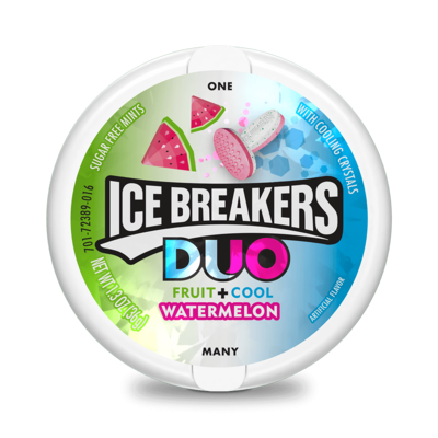 Bonbon sans sucre - Ice Breakers Mint Duo Raspberry 28g