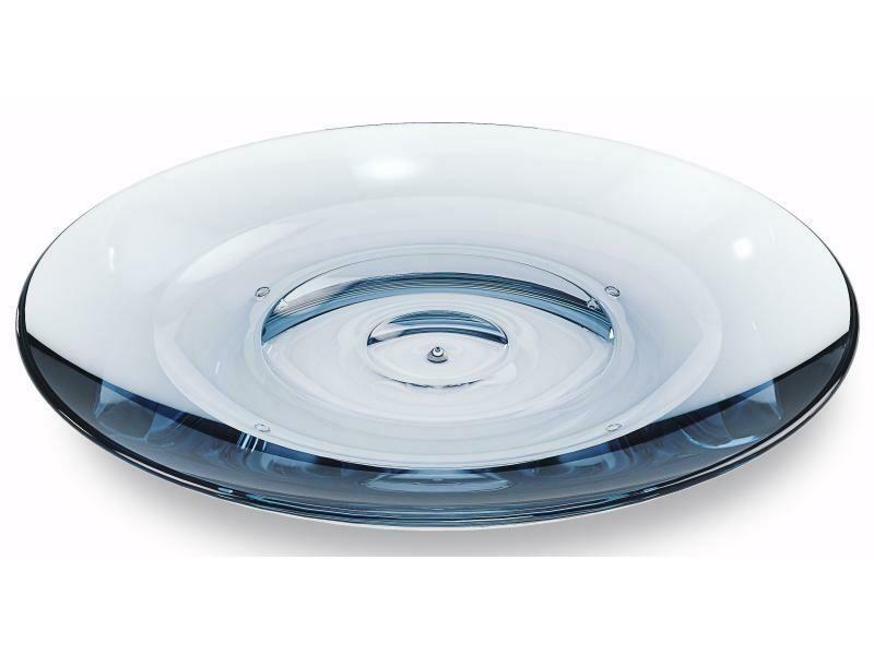 Porte-savon en verre bleu pour lavabo de salle-de-bain