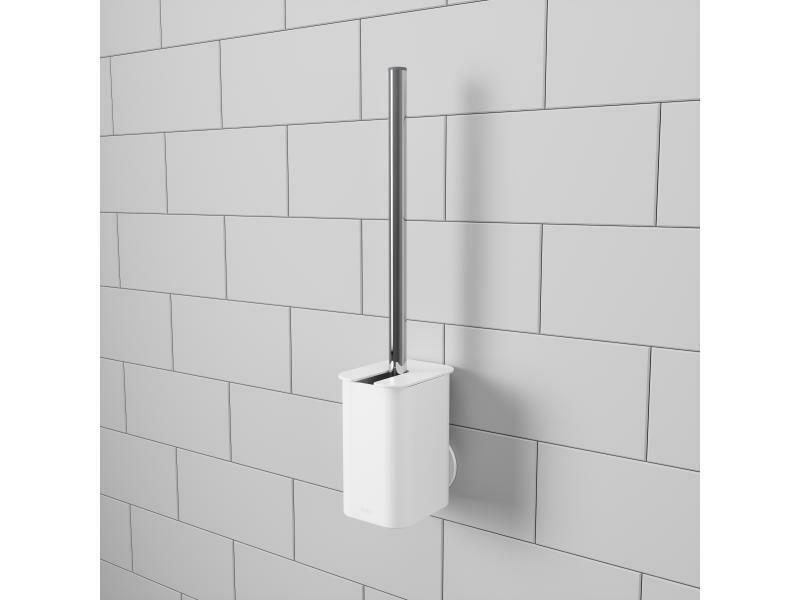 Brosse pour toilettes à ventouse