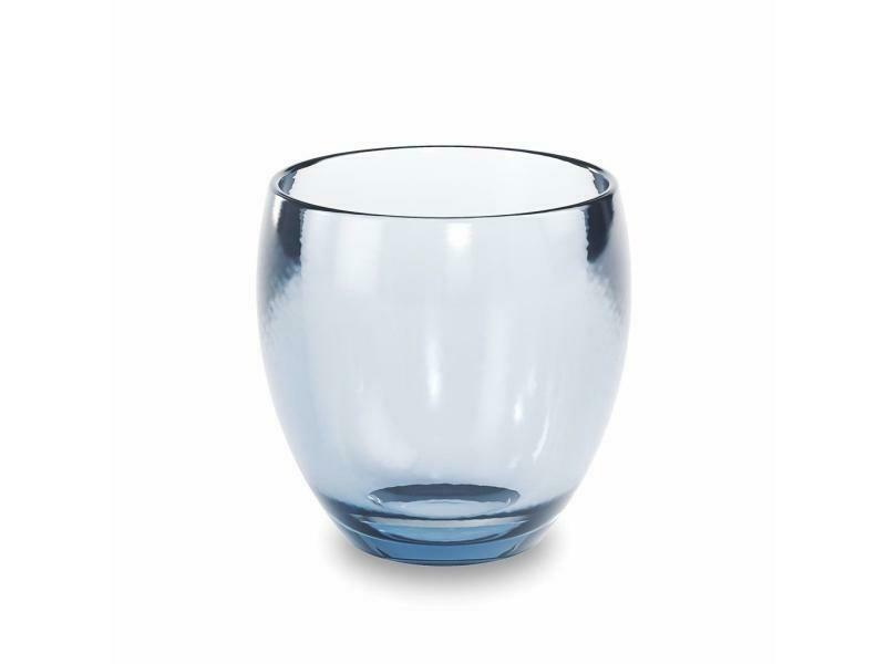 Gobelet pour lavabo de salle-de-bain en verre transparent