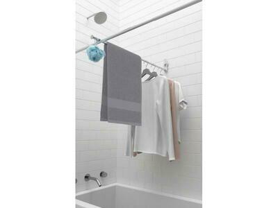 Barre de séchage pour la baignoire à ventouses