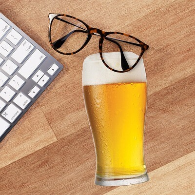 Lingette lunettes et écran microfibre bière
