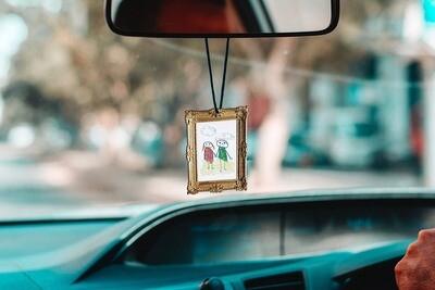 Sent bon voiture personnalisable - cadre