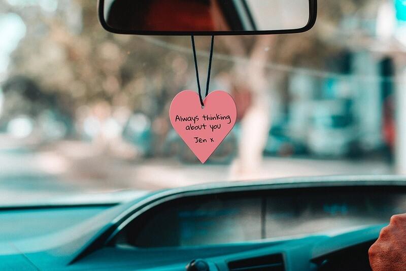 Sent bon voiture personnalisable - cœur