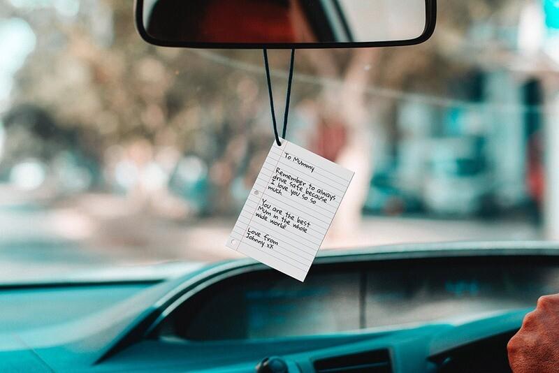 Sent bon voiture personnalisable - Lettre ♥️