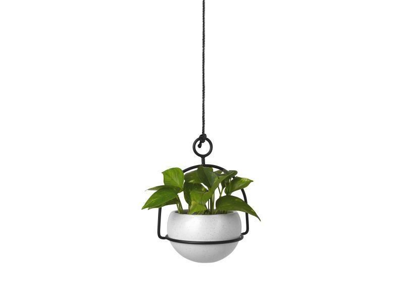 Pot à plante  à poser ou a suspendre - blanc & noir