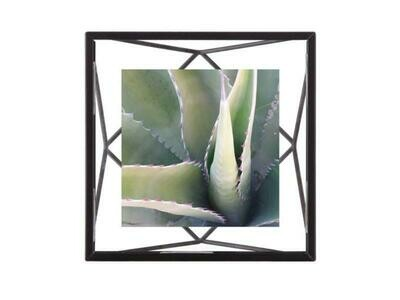 Cadre photos en métal prisme carré 10x10 noir