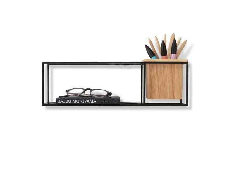 Petite étagère à poser ou à fixer au mur avec bac à plante ou à stylo