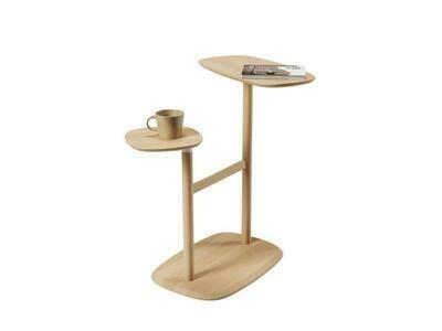 Table en bois typée 70's avec deux plateaux amovibles ♥️